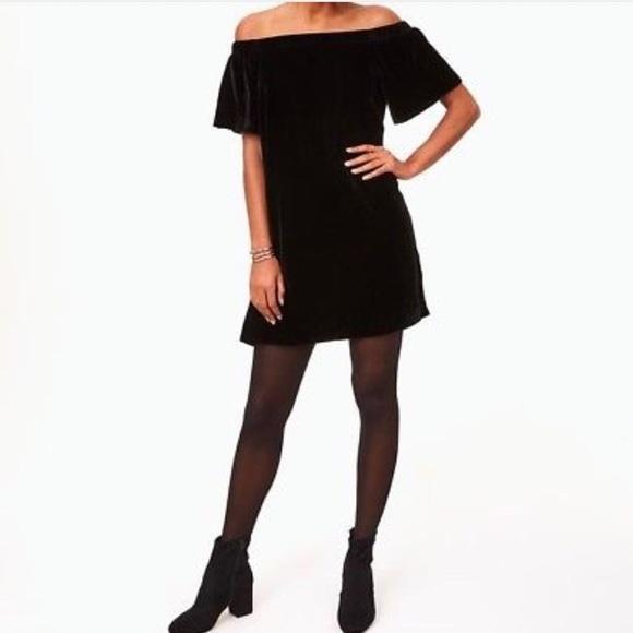 d6a1d1151d74 LOFT Velvet Off The Shoulder Swing Dress NWT